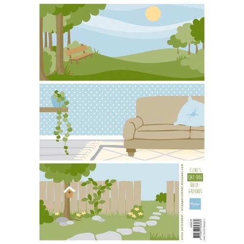 Marianne D Knipvellen Eline`s Cat & Dog achtergronden AK0072 A4 (03-19)