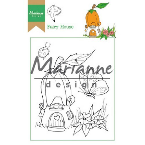 Marianne D Clear Stamp Hetty's Fairy house HT1641 15,5 x 10,5 cm (03-19)