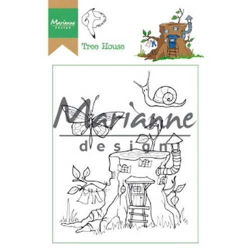 Marianne D Clear Stamp Hetty's Tree house HT1642 15,5 x 10,5 cm (03-19)