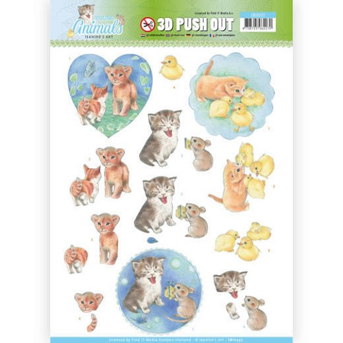 3D Pushout - Jeanine`s Art - Young Animals - Kittens