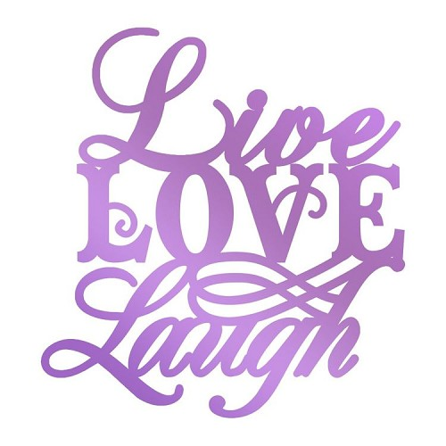 Live, Love, Laugh Hotfoil Stamp (1Live, Love, Laugh Hotfoil Stamp (1pc)pc)