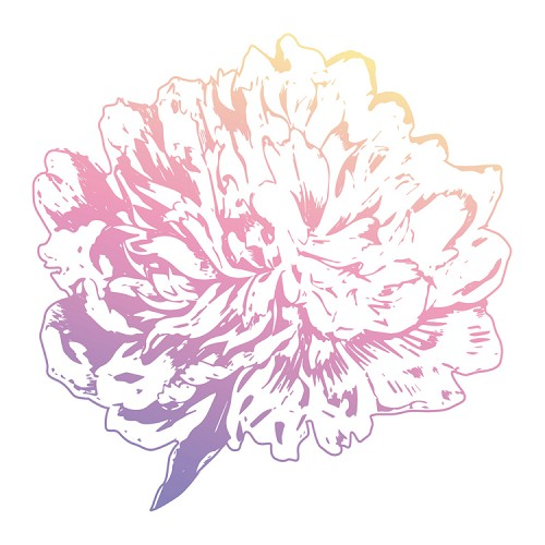 Peony Flower Mini Stamp (1pc)