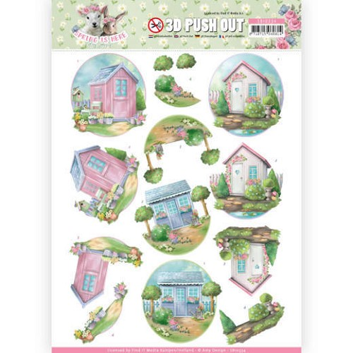 3D Pushout - Amy Design - Spring is Here - Garden Sheds