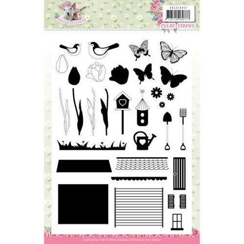 Clear Stamps - Amy Design - Spring is Here