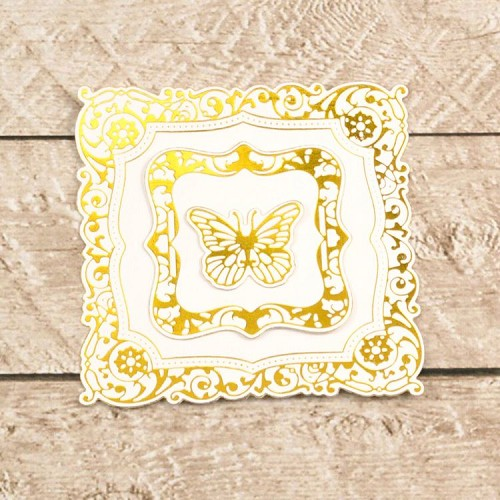 Cut, Foil and Emboss Decorative Nesting Butterfly Frames