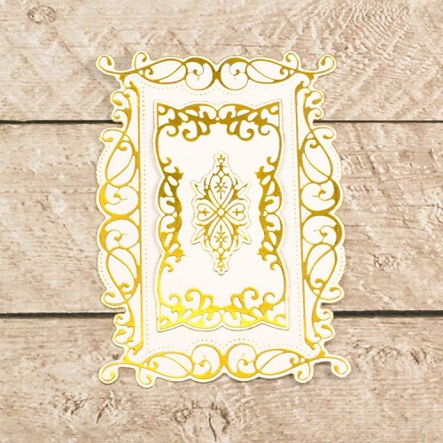 Cut, Foil and Emboss Decorative Nesting Rectangular Flourished Frames