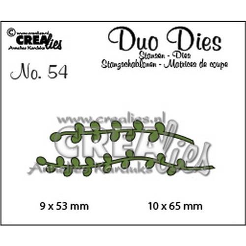 Crealies Duo Dies no. 54 Blaadjes 9 CLDD54 9x53 mm - 10x65 mm (02-19)