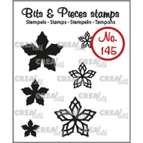Crealies Clearstamp Bits & Pieces 6x Mini Bloemen 23 CLBP145 max. 20 mm (02-19)