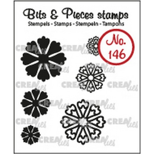 Crealies Clearstamp Bits & Pieces 6x Mini Bloemen 24 CLBP146 max. 20 mm (02-19)