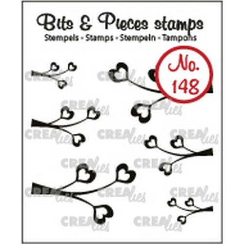 Crealies Clearstamp Bits & Pieces 6x Mini Blaadjes 4 CLBP148 max. 29x17 mm (02-19)