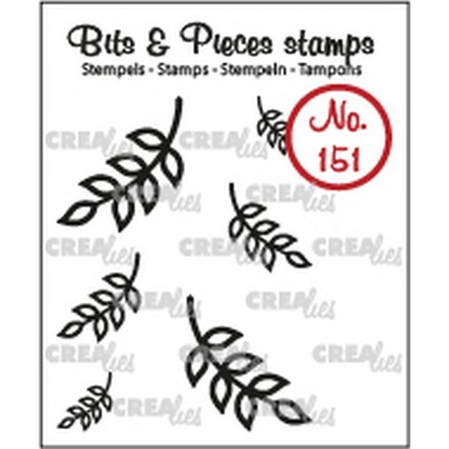 Crealies Clearstamp Bits & Pieces 6x Mini Blaadjes 8 CLBP151 max. 20x19 mm (02-19)