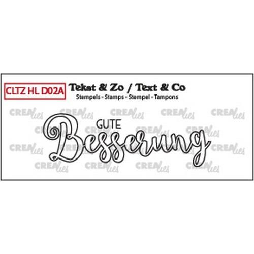 Crealies Clearstamp Handlet. (DE) Gute Besserung (outline) CLHLD02A 66 mm (02-19)