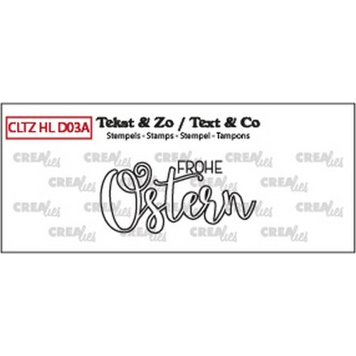 Crealies Clearstamp Handlet. (DE) Frohe Ostern (outline) CLHLD03A 43 mm (02-19)