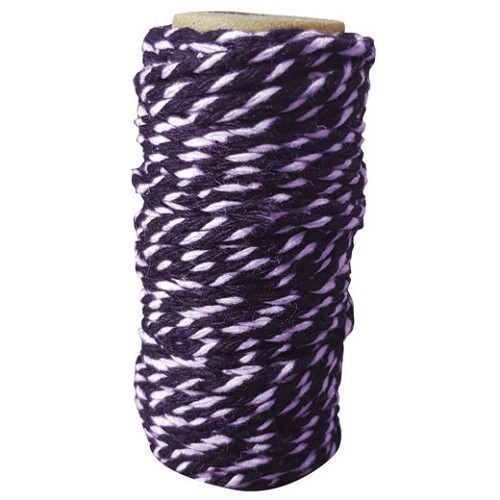 Card Deco Essentials - Bakers Twine Purple/White