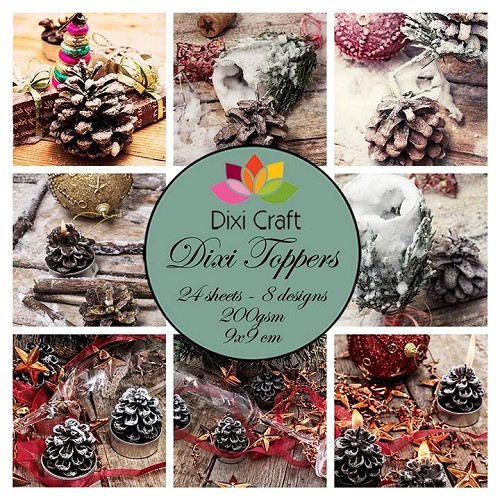 Dixi Craft Dixi Toppers 9x9cm Pinecones