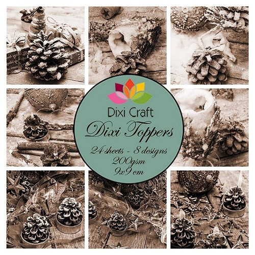 Dixi Craft Dixi Toppers 9x9cm Vintage Pinecones