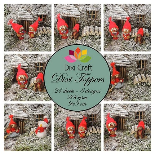 Dixi Craft Dixi Toppers 9x9cm Christmas Gnomes