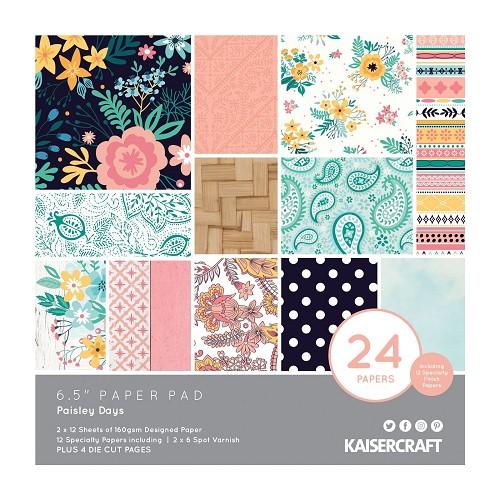 Kaisercraft • paper pad 16,5x16,5cm Paisley days