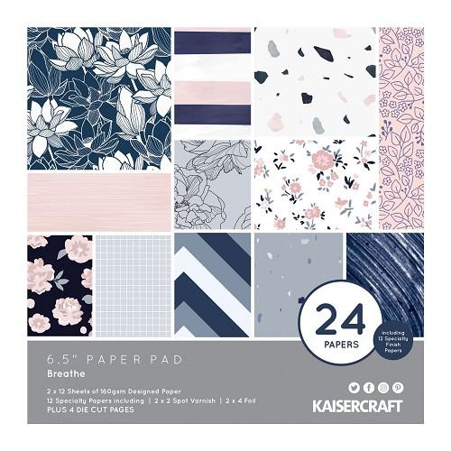 Kaisercraft • paper pad 16,5x16,5cm Breathe