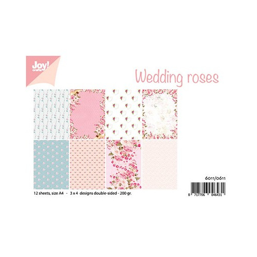 Papier Set A4 Design Wedding roses