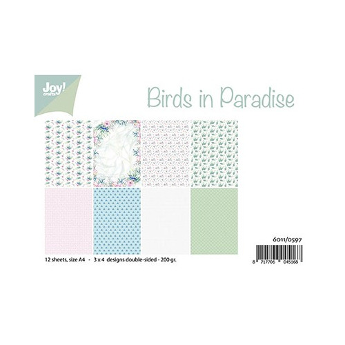Papier Set A4 Birds in Paradise