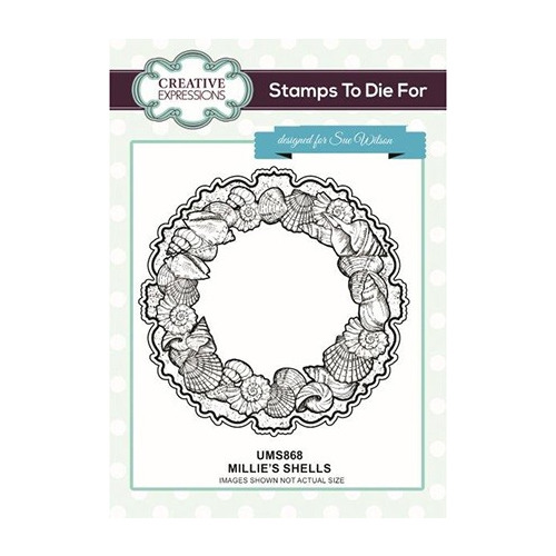 To Die For Stamp Millie`s Shells Pre Cut Stamp