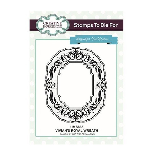 To Die For Stamp Vivian`s Royal Wreath Pre Cut Stamp