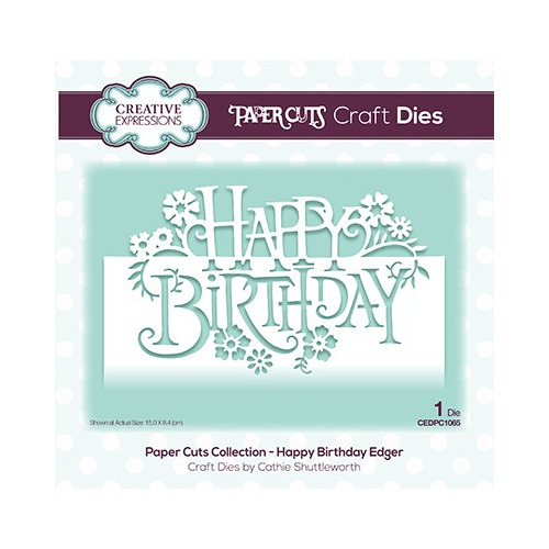 The Paper Cuts Collection Happy Birthday Edger
