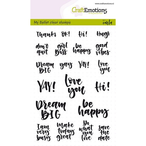 CraftEmotions clearstamps A6 - Bullet Journal - quotes (Eng) Carla Kamphuis (02-19)
