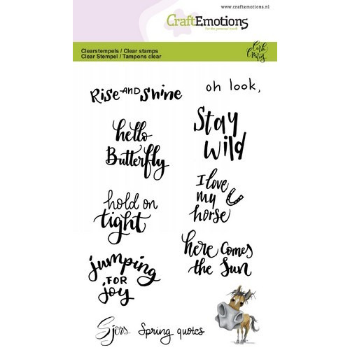 CraftEmotions clearstamps A6 - Sjors  Spring quotes (Eng) Carla Creaties (02-19)
