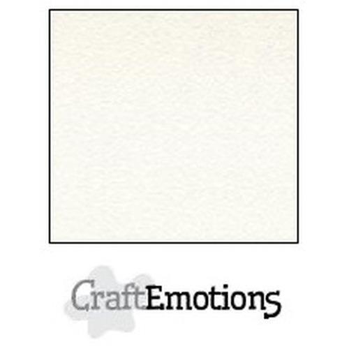CraftEmotions fluweelstructuurkarton 10 vel wit 30,0x30,0cm 250gr