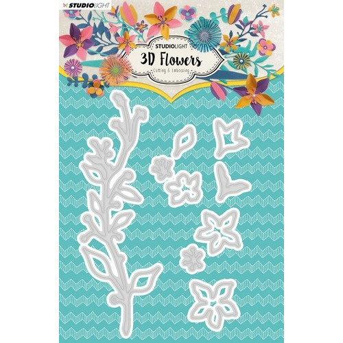 Studio Light Embossing Die Cut 3D Flower Dies nr. 181 STENCILSL181 (03-19)