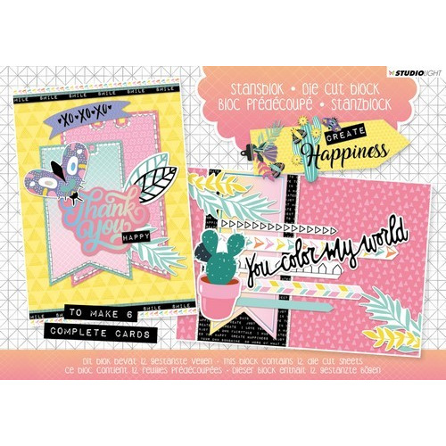 Studio Light Die cut blocs A5 folie 12 vel Create Happiness A5STANSBLOKCR20 (03-19)