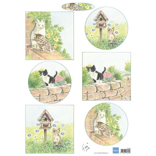 Marianne D Decoupage Tiny`s kittens IT608 A4 (04-19)