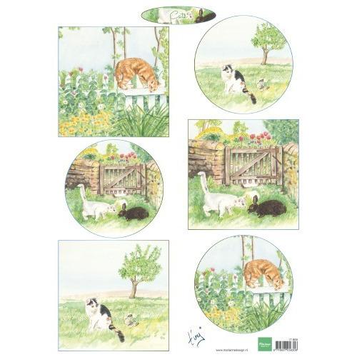 Marianne D Decoupage Tiny`s katten IT609 A4 (04-19)