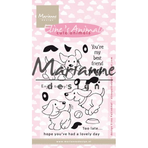 Marianne D Clear Stamp Eline's cute animals - puppies EC0177 (04-19)