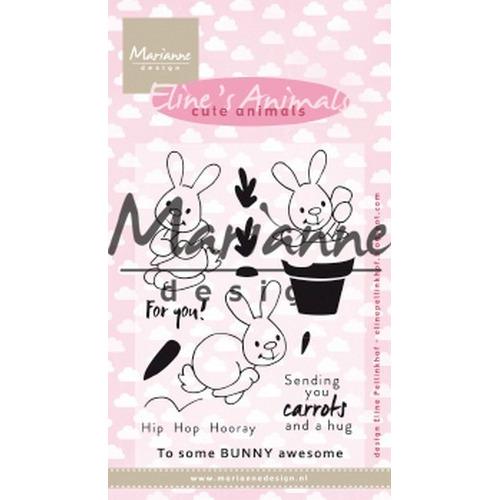 Marianne D Clear Stamp Eline's cute animals - konijntjes EC0178 (04-19)
