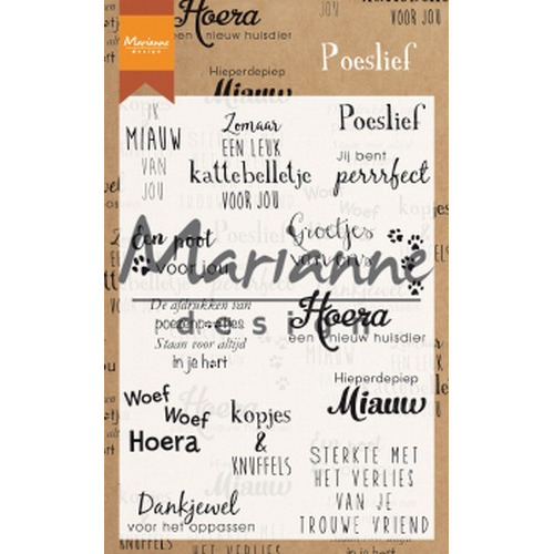 Marianne D Clear Stamps Poeslief (NL) CS1023 (04-19)