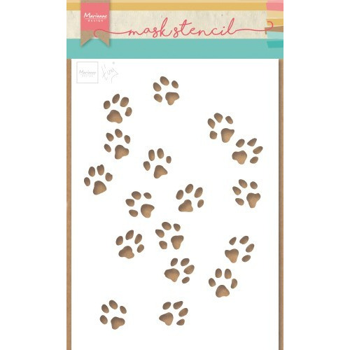 Marianne D Stencil Tiny`s kattenpoten PS8029 149x210mm (04-19)