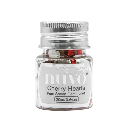 Nuvo Gemstones (ass. sizes) - cherry hearts 1400N (04-19)