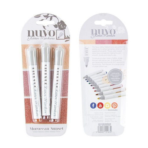 Nuvo glitter markers - moroccan sunset 167N (04-19)