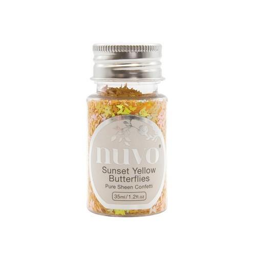 Nuvo Pure sheen confetti - sunset yellow butterflies 35ml bottle 1069N (04-19)
