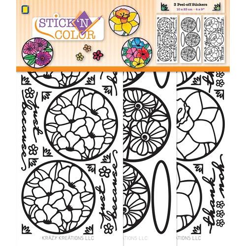Stick 'N Color Flowercircles
