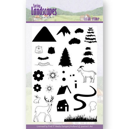Clear Stamps - Jeanines Art- Spring Landscapes Mountains