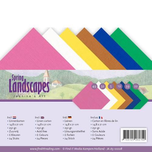 Linnenpakket - A5 - Jeanines Art - Spring Landscapes