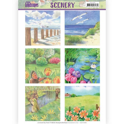 Die Cut Topper - Scenery  Jeanines Art - Spring Landscapes 1