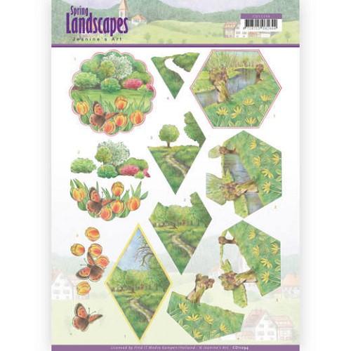 3D knipvel - Jeanine`s Art - Spring Landscapes - Meadows