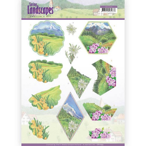 3D knipvel - Jeanine`s Art - Spring Landscapes - Mountains