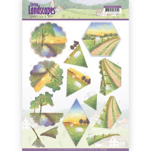 3D knipvel - Jeanine`s Art - Spring Landscapes - Sunset