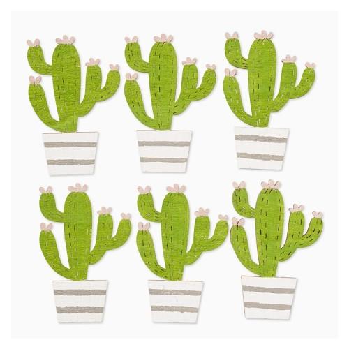 Cactussen, ca. 6 cm, buidel met 6 st